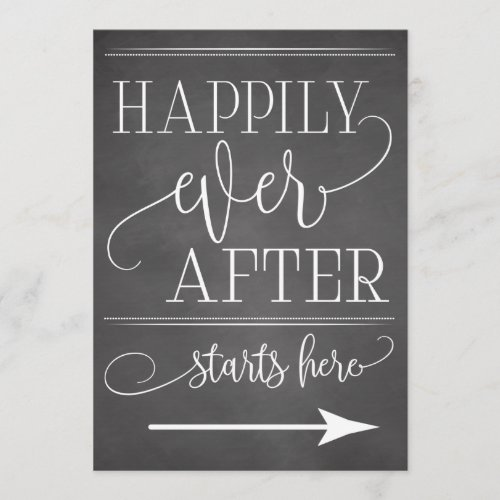 Chalkboard Happily Ever After Starts Here Sign