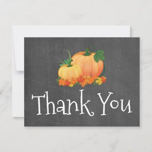 Chalkboard Little Pumpkin Thank you card