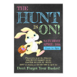 ❤️ Chalkboard Pastel Bunny Rabbit Easter Egg Hunt Invitation