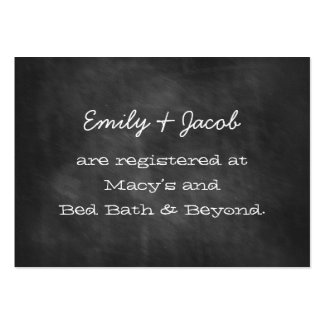 Chalkboard Wedding Shower Registry Insert Cards Large Business Cards (Pack Of 100)