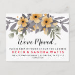 ❤️ Change of address we've moved WATERCOLOUR  floral Announcement Postcard