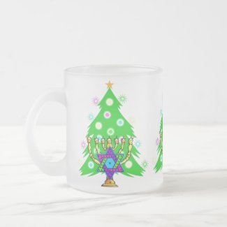 Chanukkah and Christmas mug