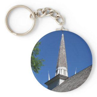 Chapel Steeple Keychain keychain