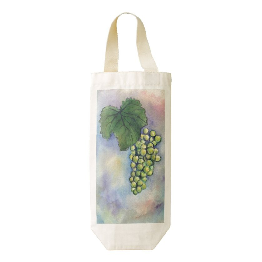 Chardonnay White Wine Grapes Personalized Wine Bag