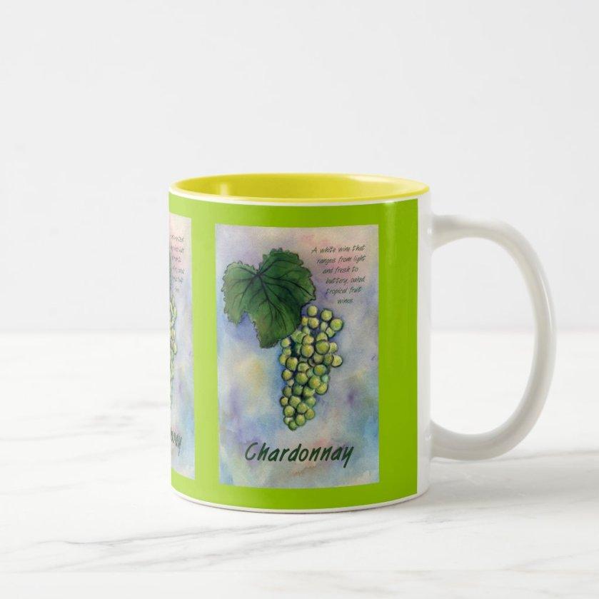 Chardonnay Wine Grapes & Description Mug
