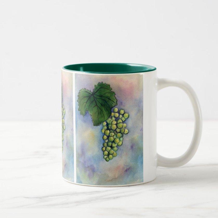 Chardonnay Wine Grapes Mug