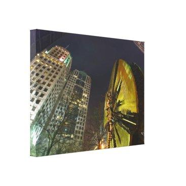 charlotte north carolina city skyline canvas print