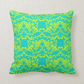 decorative chartreuse pillows