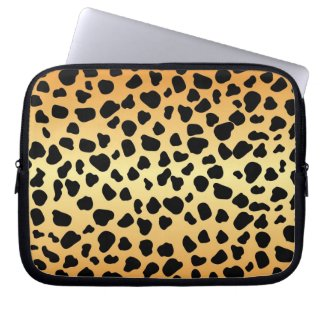 Cheetah animal spots pattern laptop computer sleeve