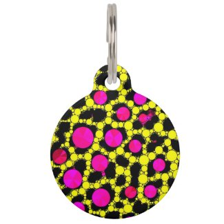 Cheetah Bling&Zebra Monogram Pet Tag