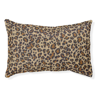 Cheetah Pattern Dog Pillow BED Comfy and Soft Small Dog Bed