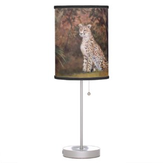 Cheetah Sitting Proud Desk Lamp