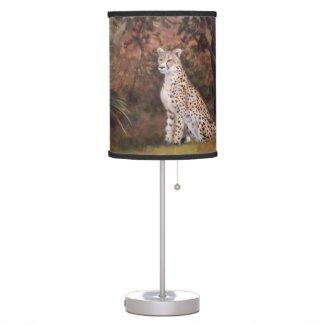 Cheetah Sitting Proud Desk Lamp