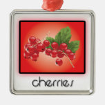 Cherries ornaments