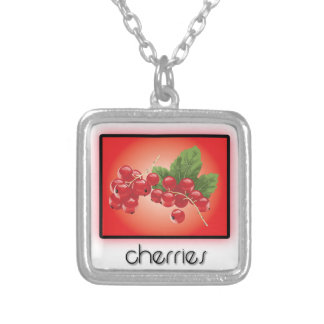 Cherries Personalized Necklace