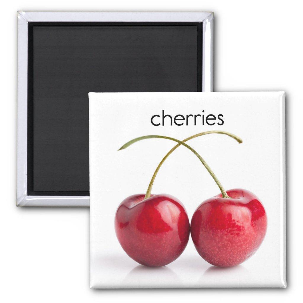 Cherries Refrigerator Magnet