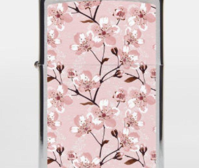 Cherry Blossom Flowers Pattern Zippo Lighter