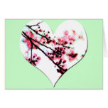 Cherry Blossom Heart cards