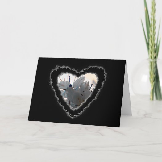 Cherry Blossom Heart Valentine Love Card