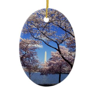 Cherry blossom in Washington DC Ornament