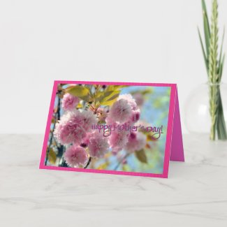 Cherry Blossom Mothers Day Card zazzle_card