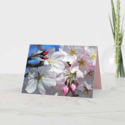 Cherry Blossom Mother's Day Card card