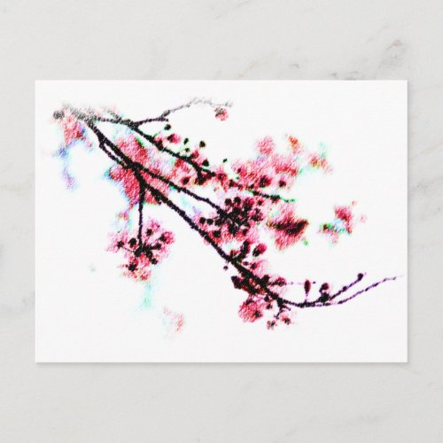 Cherry Blossom Painting postcard