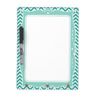 Chevron Decorative Frame Dry Erase Board