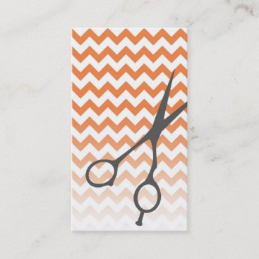 Chevron Shears Barber/Cosmetologist Business Card