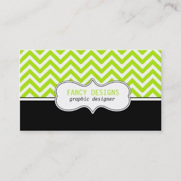 Chevron Stripes Business Card