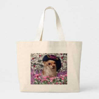 Chi Chi in Flowers Tote - Chihuahua bag
