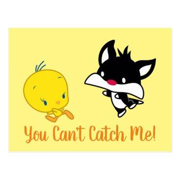 Chibi SYLVESTER™ Chasing TWEETY™ Postcard