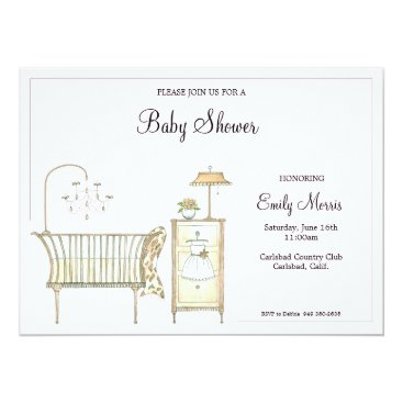 Chic Baby Room Card