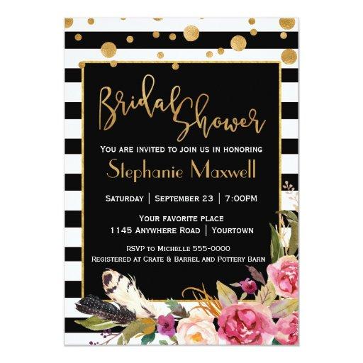 Chic Bohemian Bridal Shower Card