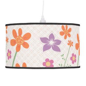Chic Floral Pattern Design Monogram Lamp