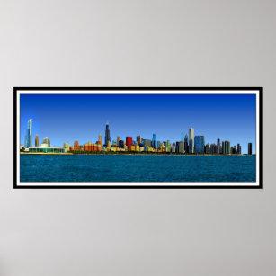 chicago skyline posters prints zazzle