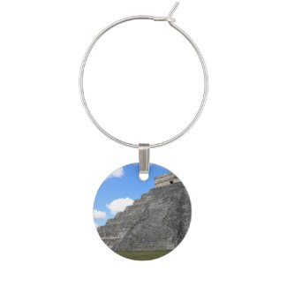 Chichen Itza Temple of Kukulcan south-west View Wine Charm