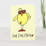 Cool Chick With Sunglasses Birthday Card