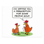 Chicken Doctor People Soup Get Well Postcard