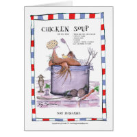 chicken soup recipe, tony fernandes card