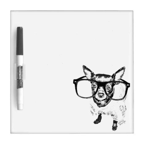 Chihuahua Dog Illustration Drawing Dry Erase Board