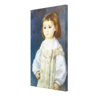 Child in White by Pierre Auguste Renoir Stretched Canvas Print