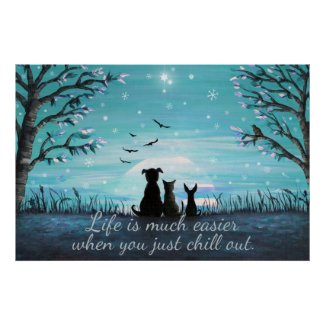 Chill Out Winter Sunset Poster