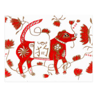 Chinese Dog Astrology Postcard