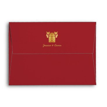 Chinese Double Happiness Love Birds Envelope