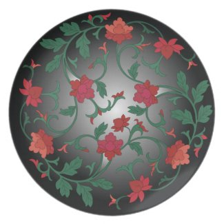chinese floral plate