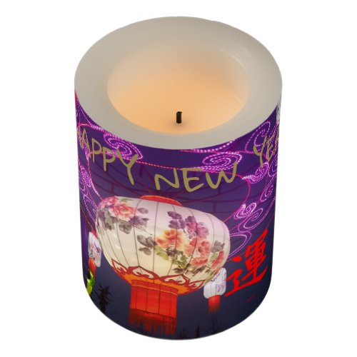CHINESE NEW YEARS LANTERN FLAMELESS CANDLE