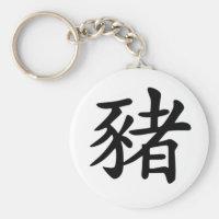 Chinese Zodiac - Pig Keychain