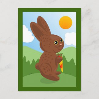 Chocolate Bunny Postcard postcard