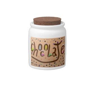 """Chocolate"" Candy Jar"